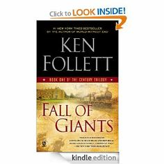 Fall of Giants: I listened to this book and the reader, John Lee, was wonderful, using many accents and voices.  The WWI story provided lots of historical details that were new to me. Follett, as always, fully populates his novels but gives each character enough detail that one does not have a problem keeping everyone straight. 4 stars. 865 pages, 30 hrs 41 mins