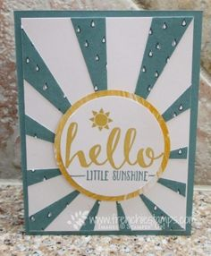 Stamp & Scrap with Frenchie: Sunburst Thinlits 2 for 1
