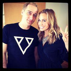 DJ Paul van Dyke and #fangirl Keltie Colleen.