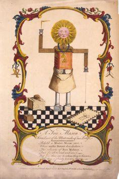 A Freemason, A. Slade delin (1754)