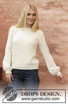 Women - Free knitting patterns and crochet patterns by DROPS Design Sweater Knitting Patterns, Knit Patterns, Free Knitting, Baby Knitting, Drops Design, Pull Poncho, Sport Weight Yarn, Yarn Brands, Stockinette