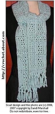 Openwork Triangles Design Scarf   free #crochet #scarf patterns