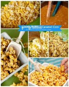 Gooey Vanilla Caramel Corn Recipe - perfect for a Halloween Party! #party #popcorn #caramelcorn