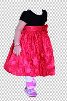 Photoshop Psd Cute Girl Dress Costume Cutting  For Free Psd