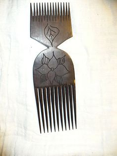Ethiopian made Double ended Hair pick