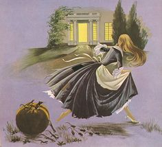 Cinderella, the escape    from Dean's Gold Medal Book of Fairy Tales by Janet & Anne Grahame Johnstone