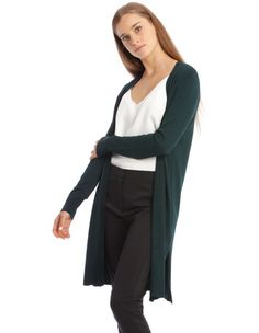 Tokito Petites Long Line Cardigan - Emerald Longline Cardigan, Wrap Cardigan, Long Cardigan, Sweater Cardigan, Jumpers For Women, Cardigans For Women, Sweater Shop, Striped Knit