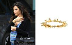 Jenna Dewan-Tatum wearing the Renegade Cluster Bracelet in Gold by Stella & Dot