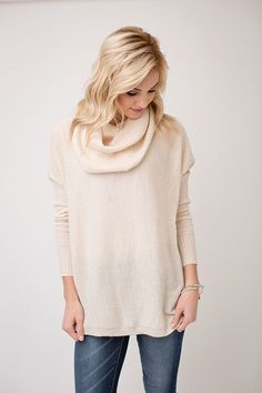This sweateris the perfect piece for those cold winter days. The fit and comfort on this top will make you want to wear it daily... no worries though we won't