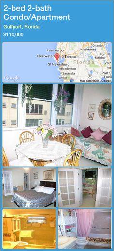 2-bed 2-bath Condo/Apartment in Gulfport, Florida ►$110,000 #PropertyForSaleFlorida http://florida-magic.com/properties/56982-condo-apartment-for-sale-in-gulfport-florida-with-2-bedroom-2-bathroom