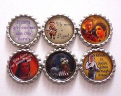 Labyrinth Brooches/Magnets by LotsesofFoxes on Etsy