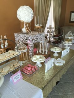 Beautiful wedding sweet candy bar