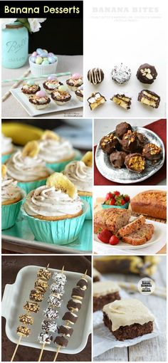 Banana Desserts #Recipes http://www.momsandmunchkins.ca/2014/06/07/banana-desserts/ #MonkeyParty