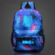 f41421c3f99f 2017 Naruto Backpack Japan Anime Printing School Bag for Teenagers Cartoon Travel  Rucksack Nylon Casual Luminous Mochila Galaxia.