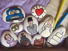 childrens wedding story stones by Letterboxlearners on Etsy