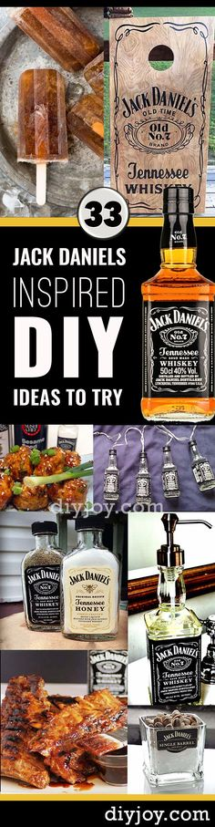33 Brilliantly Creative DIY Ideas Inspired by Jack Daniels, Diy And Crafts, Fun DIY Ideas Made With Jack Daniels - Recipes, Projects and Crafts With The Bottle, Everything From Lamps and Decorations to Fudge and Cupcakes Bebidas Jack Daniels, Festa Jack Daniels, Jack Daniels Party, Jack Daniels Gifts, Jack Daniels Bottle, Jack Daniels Decor, Jack Daniels Fudge, Diy Gifts, Unique Gifts