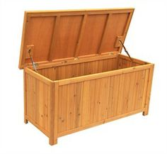 Solid Wood Deck Storage Bench
