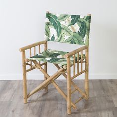 Relax these summer months in our Muse Bahamas Bamboo Director Chairs. Available in tropical banana palm print. Complete your alfresco entertaining space with the coordinating foot stools and our Cape Cod Bamboo Table