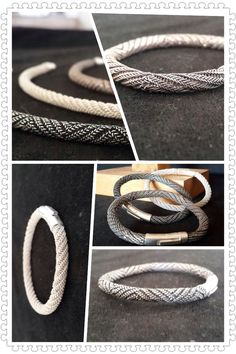Gly FORTUNE Wire Wrapped Jewelry, Metal Jewelry, Viking Knit, Bracelet Knots, Cute Bracelets, Sterling Silver Cuff Bracelet, Wire Weaving, Celtic Knot, Beading Tutorials