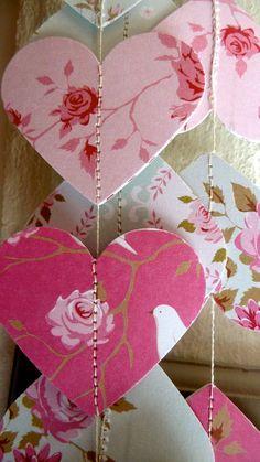 Bridal shower decorations, Wedding decor, Rustic wedding decor, Book themed baby shower, Heart garla