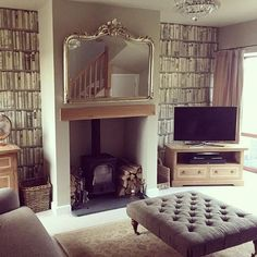 This character-filled living room belongs to @r.s_interior_design and features our Lucia furniture range as well as our Harris Tweed footstool. We love how Rachael has given her space a cosy, country-inspired look using a mix of fabrics, interesting wallp