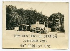 Ends tonight! TOMMIE'S SERVICE GAS STATION HOT SPRINGS ARKANSAS VINTAGE SNAPSHOT PHOTO