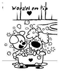 kleurplaat woezel en pip - Woezel en Pip Cute Coloring Pages, Coloring Books, My Little Girl, My Baby Girl, Dog Love, Puppy Love, Digi Stamps, Paw Patrol, Cute Puppies