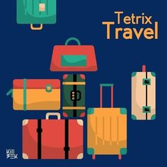 #tetrix #tetris #bags #travel #illustration #vector #handbag #game #design #killbeek #packing #newyear #dicember #  #Repin by https://www.kensington-bespoke.uk - Bringing the #chic and #style of #Kensington High Street direct to your home.