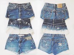 """Less than $10 to make, find some high waisted """"mom jeans"""" at your local thrift store cut, bleach, or add studs to make it your own unique style"""