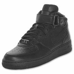 Men's Nike Air Force 1 Mid Casual Shoes | FinishLine.com | Black
