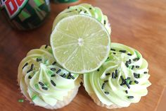 Mountain Dew Cupcakes | The Baking Robot And Mountain Dew Buttercream frosting.