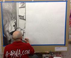 tableau hyperréalisme Alexandre ABYLA - Trompe-l'oeil - Fresque - Artiste Peintre Genève Suisse