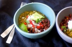 red bean and green grain taco bowl – smitten kitchen Bean Recipes, Veggie Recipes, Mexican Food Recipes, Vegetarian Recipes, Dinner Recipes, Cooking Recipes, Healthy Recipes, Healthy Foods, Free Recipes