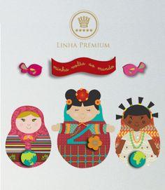 Linha Premium Kit de Adesivos Dolls (Matrioshkas) Bloom Kids www.bloomkids.com.br