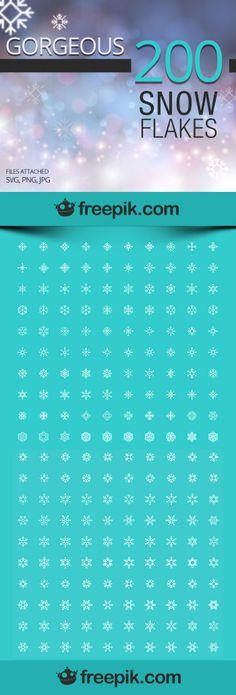 200 free snow flakes