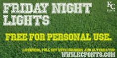 Friday Night Lights Font | dafont.com