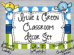 This Classroom Set comes to you with a complete set with either White Center or Chalkboard Center so that you can mix and match while having a cohesive classroom theme.The Editable Labels come in a variety of sizes!  They are perfect to label:*Baskets*Cubbies*Name Plates*Classroom Library*Name Tags*Classroom Supplies..AND MORE!The Editable Banners come in TWO sizes and in both centers!