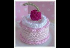 Crochet Slice of Birthday Cake Birthday cakes Crochet and