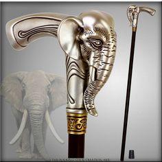 Elephant Eco Polymer Handle Walking Stick, Etsy (GCArtis) -- $85.50 + $22.50