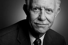 """U.S. Airways pilot and Purdue alumnus Chesley """"Sully"""" Sullenberger. This portrait was taken when Sullenberger made a return visit to campus this fall. The shoot was unplanned, but thanks to the help of my coworkers and the graciousness of Sullenberger, he was willing to sit for 60 seconds so I could make his portrait. I walked away with 12 frames from the shoot but was pleased with the result. (Purdue University/Andrew Hancock)"""