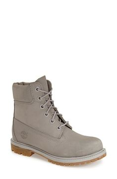 omg gray times <3 Timberland '6 Inch Premium' Waterproof Boot (Women) available at #Nordstrom