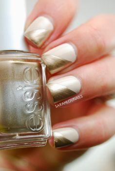 Gold Tip Nails!