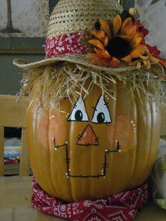 Fall Scarecrow Pumpkin