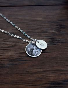 Photo Charm Necklace Gold Filled & Sterling Silver by PicktureThat