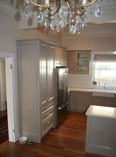 Lilyfield Life: Our French Kitchen Renovations and Reveal. Cabnitry: Colorbond Dune.
