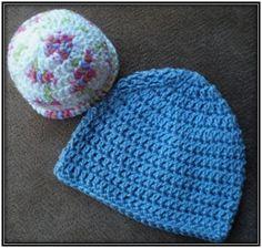 Preemie Cap free crochet pattern - 48trc