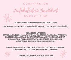 Taideluontokasvatus: Tulossa pian: Kuura-ketun joulukalenteri!