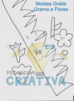 Confira vários MOLDES e sugestões de GRAMA para criar seu Painel em EVA