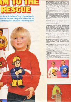 Fireman Sam knitting pattern - Womans Weekly pull-out. (Unlisted shop stock).