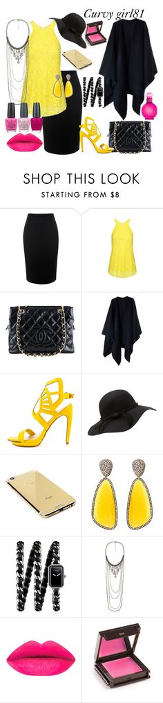 """""""Curvy set dual color"""" by pretty-girl81 on Polyvore featuring moda, Alexander McQueen, Chanel, Acne Studios, Penny Loves Kenny, Goldgenie, Christina Debs, Jouer, OPI e women's clothing"""